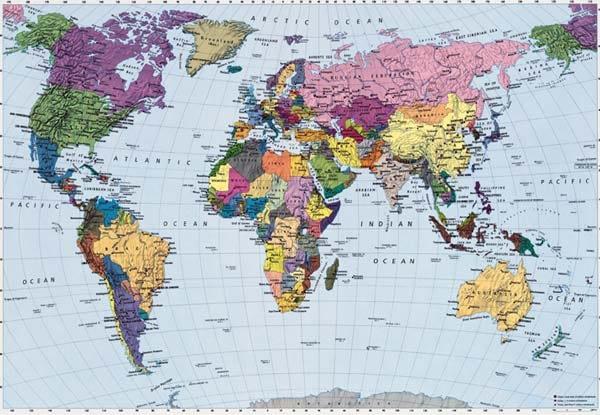 Fototapet Harta lumii, un fototapet foarte apreciat de clientii Deco-perete.ro