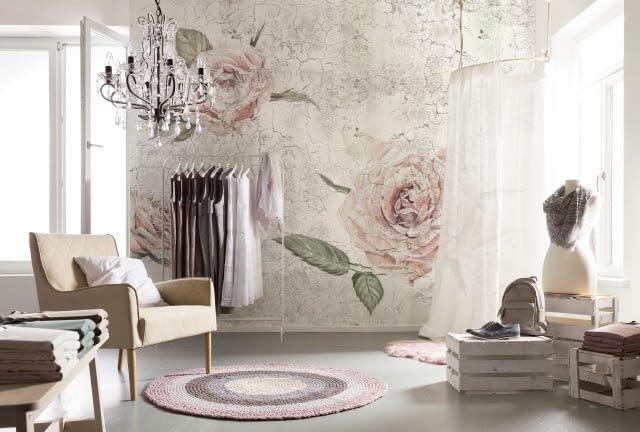 decoratiuni de perete decor cu trandafiri