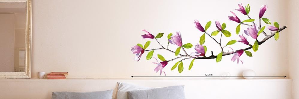 Sticker floral cu violet