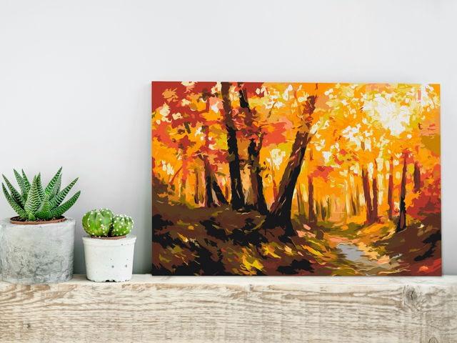 pictura cu peisaj de toamna