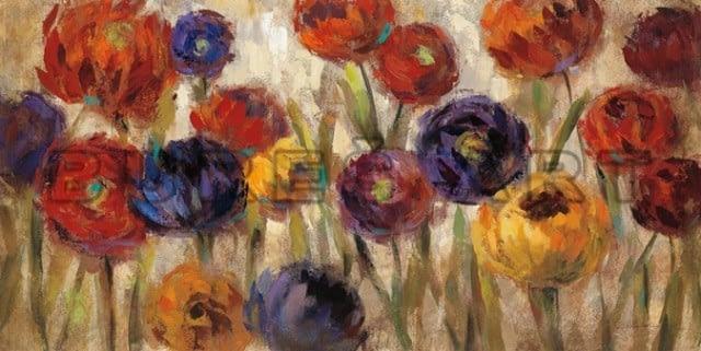"""Tablou """"Flori colorate V"""" înrămat"""