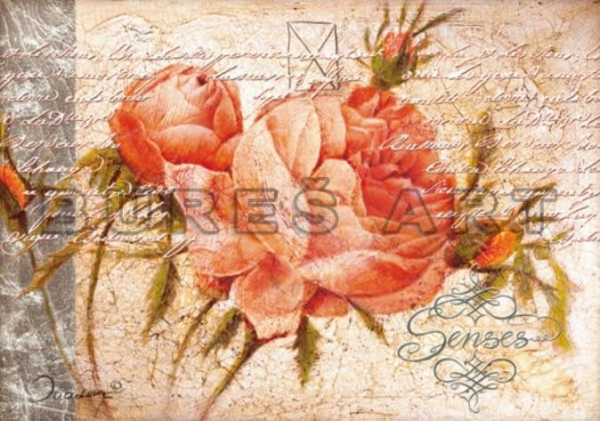 Tablou cu trandafiri pentru decoratiuni shabby chic pe deco-perete.ro
