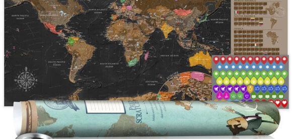 Harta razuibila, un element cu efect artistic – din pasiune pentru locuinta ta si pentru calatorii
