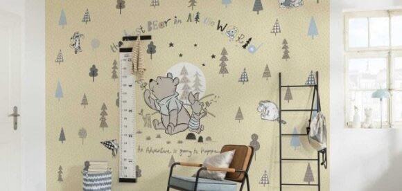 Contureaza universul copilariei cu fototapetul cu desene animate