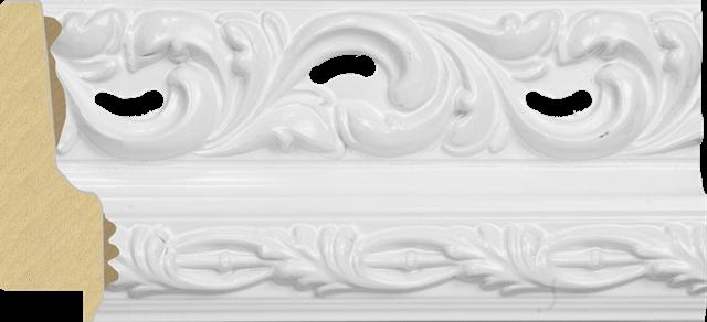 Rama alba de lemn pentru decoratiuni shabby chic la atelierul de inramari Arbex Art Decor