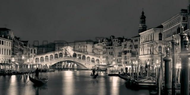 Tablou cu Veneția înrămat